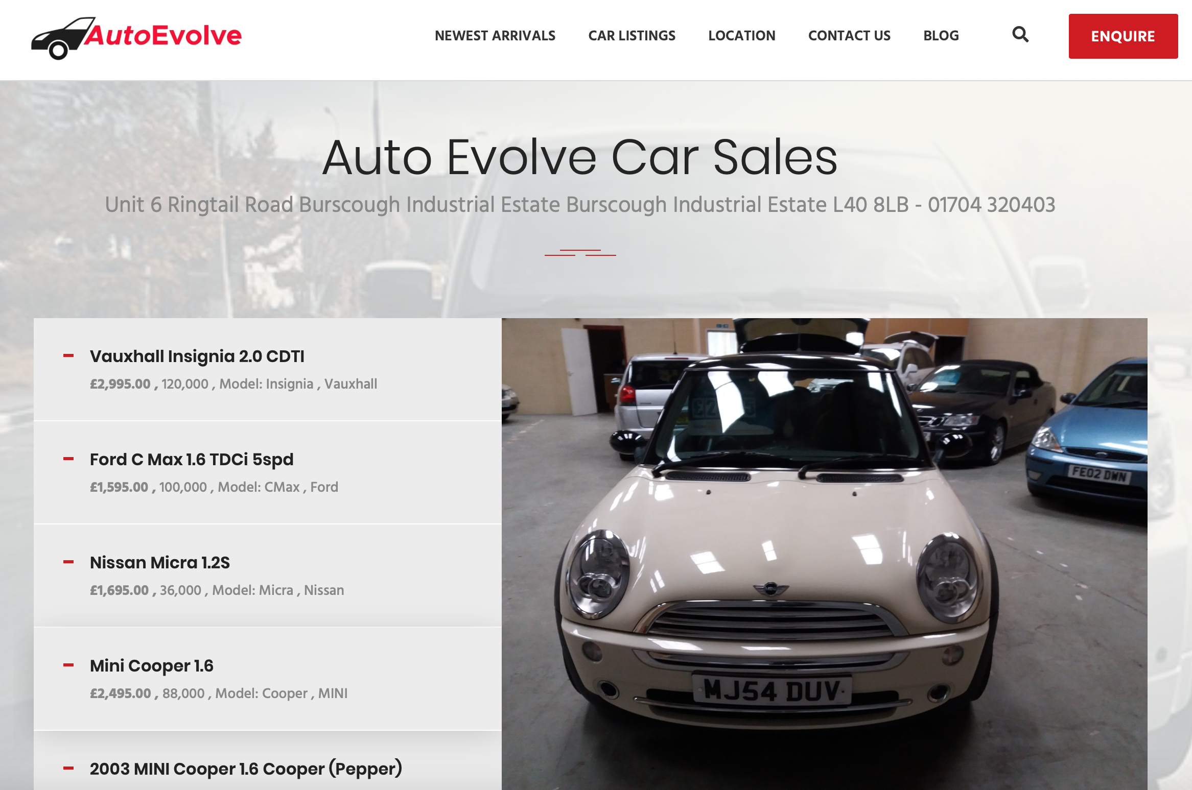 Website Design For Used Car Dealers, Websites For Used Car Dealers, Acme web agency