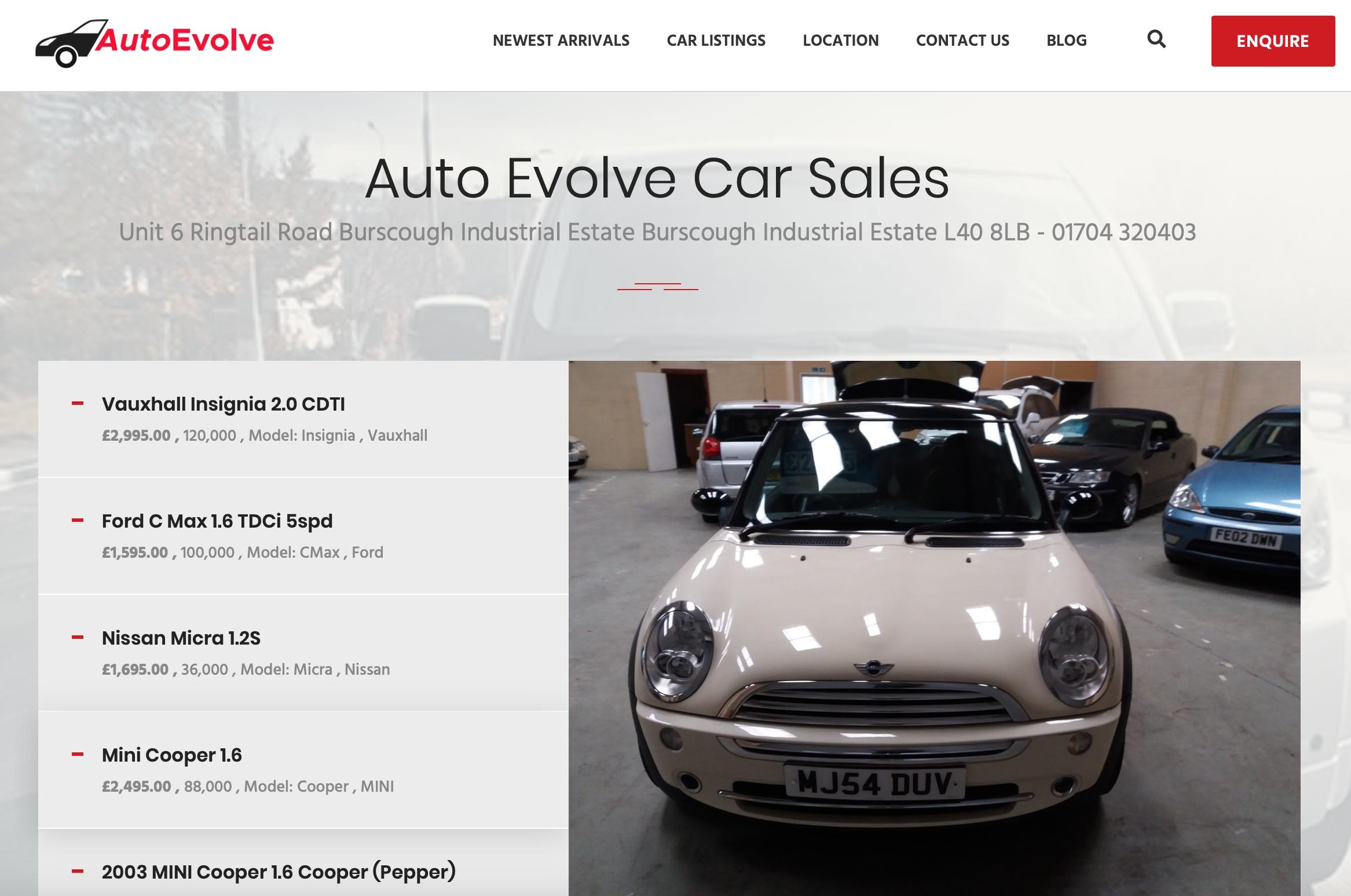 Website Design For Used Car Dealers, Websites For Used Car Dealers, Acme web agency